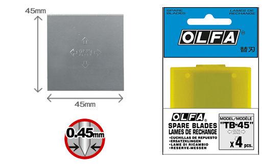OLFA  TB-45  刮刀替刃-4片入 / 包