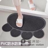 防滑墊/家用PVC絲圈防滑地墊進門腳墊腳踏墊地毯廚房浴室門墊「歐洲站」