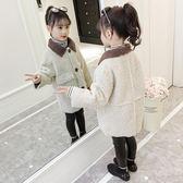 兒童外套女童羊羔毛外套2018秋冬裝新款兒童韓版洋氣加厚中長款冬季大衣潮 喵小姐