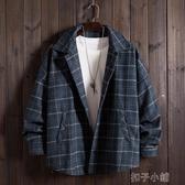 秋季新款潮牌慵懶風工裝外套男高街復古青少年寬鬆休閒夾克衫 扣子小鋪