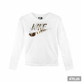 NIKE 女 AS W NSW TOP LS METALLIC GX  圓領T(長)- 939349100