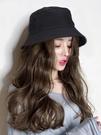 假髮帽漁夫帽子女韓版潮假發帽一體時尚百搭長卷發夏季網紅遮陽帽帶頭發 雲朵走走