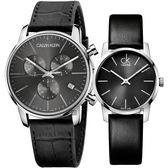 Calvin Klein CK 經典LOGO情侶手錶 對錶/43mm+31mm K2G271C3+K2G23107