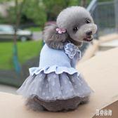 寵物衣服  公主裙泰迪比熊博美小型幼犬夏裝薄款秋季寵物秋冬 AW13051『男神港灣』