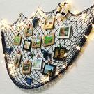 網格照片墻漁網裝飾酒吧復古墻面40張5寸相框 jy現代創意紙相框懸掛夾子相片墻【聖誕節禮物】