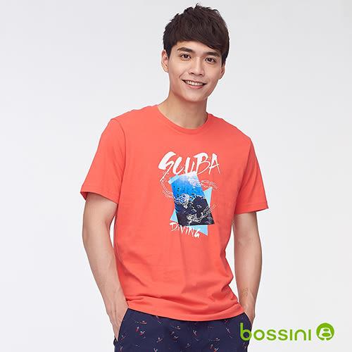 印花短袖T恤31橘-bossini男裝