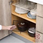 伸縮廚房用品置物架下水槽櫥柜碗碟架調料架子【櫻田川島】
