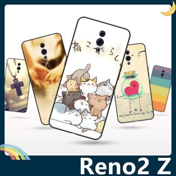 OPPO Reno2 Z 彩繪Q萌保護套 軟殼 卡通塗鴉 小清新 超薄防指紋 全包款 矽膠套 手機套 手機殼 歐珀