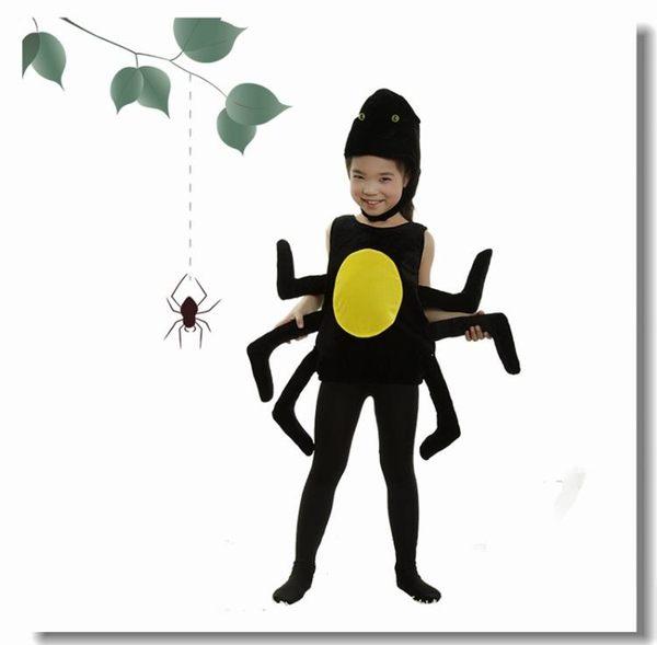 萬圣節兒童動物表演服裝蜘蛛衣服課本劇黑蜘蛛昆蟲動物角色扮演服  易貨居