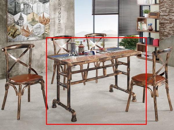 休閒桌椅 MK-477-2 比夏4尺商業桌【大眾家居舘】