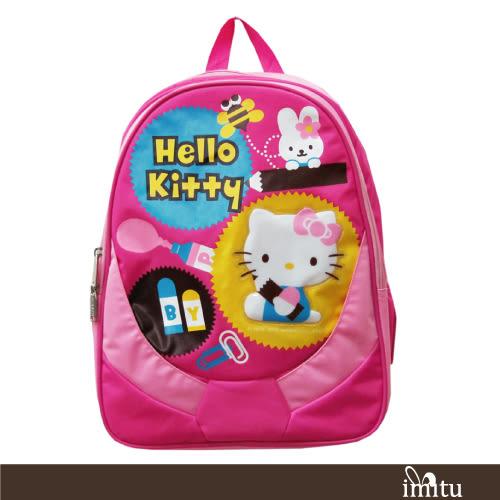 imitu 【Hello Kitty 凱蒂貓】高級護脊書背包(C款_KT-2936)