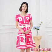 【RED HOUSE 蕾赫斯】鬱金香花印花洋裝