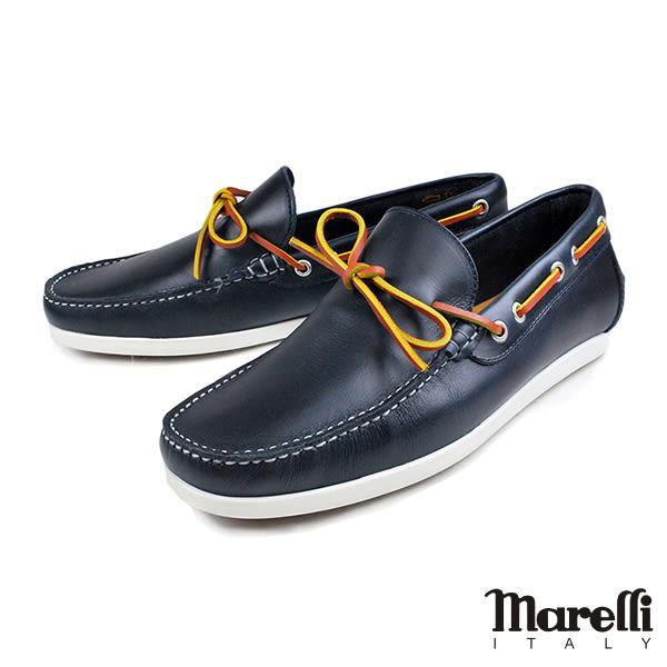 【Marelli】質感帆船休閒鞋 深藍(54422-NA)