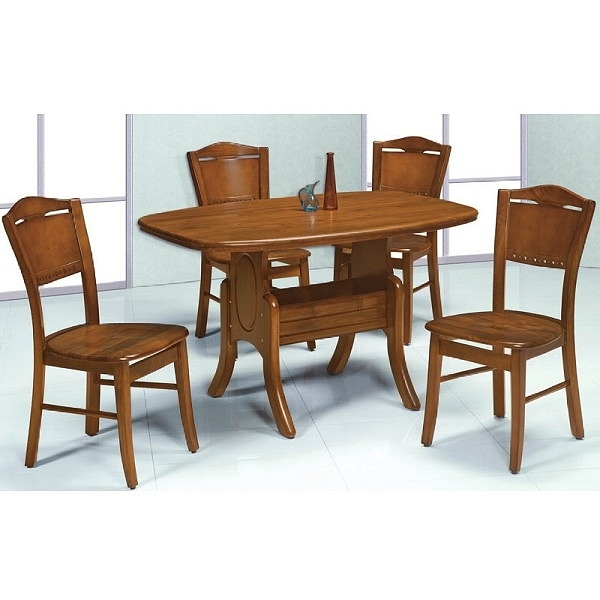 餐桌 PK-553-4 小美式柚木餐桌 (不含椅子)【大眾家居舘】