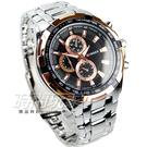 CURREN 時尚潮流賽車款 仿三眼時尚腕錶 男錶 銀x玫瑰金錶框 雅痞 石英錶 CU8023玫