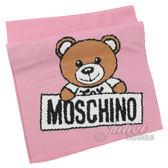 茱麗葉精品【新進品牌 獨家價】MOSCHINO 30572 M1857 泰迪熊羊毛圍巾/披肩.粉