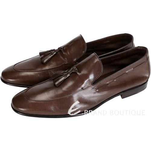 MORESCHI 復古流蘇裝飾樂褔鞋(男款/咖啡色) 1430495-07