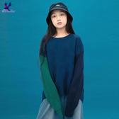 【三折特賣】American Bluedeer - 雙袖撞色針織上衣(魅力價) 秋冬新款