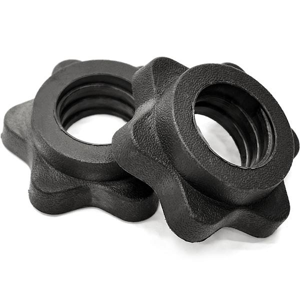 六角梅花鎖頭(2入.適用25MM長短槓心)固定鎖固定環.槓鈴鎖啞鈴螺母.槓片夾槓片鎖.運動用品