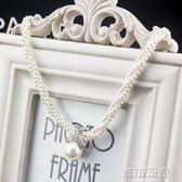 掛鍊 項鍊女短款韓國時尚多層珍珠鎖骨頸鍊韓版新款氣質百搭掛鍊配飾品  城市玩家