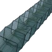 1米到15米蝦籠折疊捕蝦籠漁網捕魚籠魚網黃鱔籠龍蝦網自動捕蝦籠  ATF  魔法鞋櫃