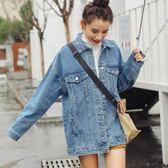 牛仔外套女裝寬鬆學生韓版中長款