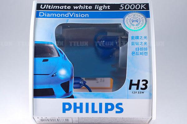 PHILIPS 藍鑽之光 H3 55W 5000K (Dimond Vision 飛利浦)