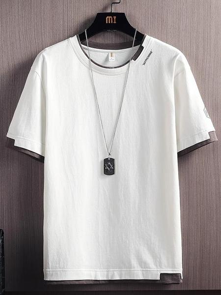 夏季男士短袖T恤內搭白色潮牌打底衫潮流ins純棉寬鬆冰感上衣服 露露日記