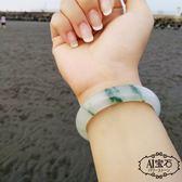 【A1寶石】天然緬甸A貨-頂級高冰種飄蘭花翡翠手鐲/手圍#18.5-#19(附證書LV-60K5G)