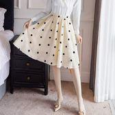甜美點點剪花鬚邊腰身氣質及膝裙*單售及膝裙[98911-QF]美之札