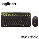 【台中平價鋪】全新 羅技 Logitech 無線滑鼠鍵盤組 MK240 Nano 無線鍵鼠組 - 黑色/黃邊