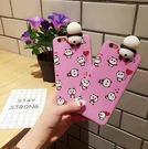【SZ62】個性創意蘋果手機殼iPhone6s立體粉紅熊貓iPhone7p可愛卡通女生保護套