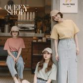 Queen Shop【01038466】素色圓領短袖棉質上衣 七色售*現+預*