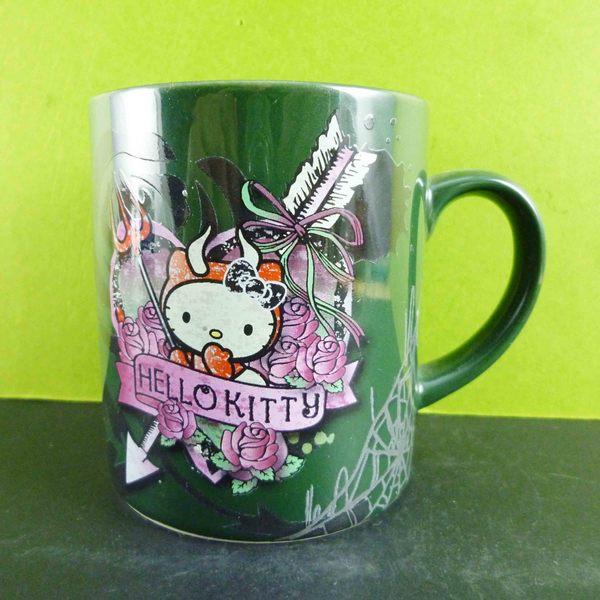 【震撼精品百貨】Hello Kitty 凱蒂貓~馬克杯-綠惡魔