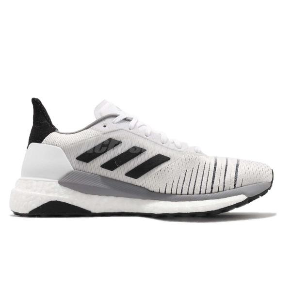 adidas 慢跑鞋 Solar Glide W 白 黑 BOOST中底 基本款 女鞋 運動鞋【PUMP306】 BB6630