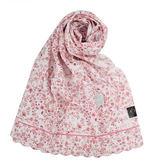 DAKS 浪漫花卉抗UV純棉薄圍巾(粉紅色)989126-24