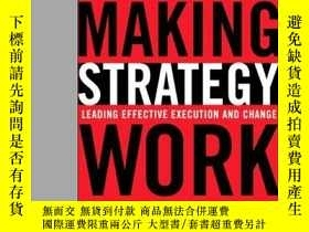 二手書博民逛書店Making罕見Strategy WorkY364682 Lawrence G. Hrebiniak Fina