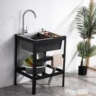 廚房不銹鋼簡易水槽雙槽單槽帶支架子洗手盆家用水池洗菜盆洗碗池 ATF 魔法鞋櫃
