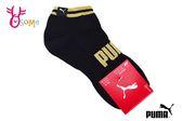 PUMA FASHION LOGO字樣腳踝襪 運動襪 台灣製 襪子 一雙入 SX361#黑金◆OSOME奧森童鞋