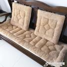 秋冬加厚紅木實木沙發坐墊 毛絨墊子椅墊 ...