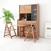 北歐餐邊櫃餐桌現代簡約一體組合伸縮摺疊多功能餐櫃桌餐廳小戶型 青木鋪子「快速出貨」