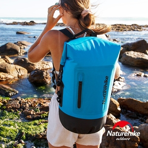 Naturehike C031一字拉鍊TPU乾濕分離防水後背包 2入組藍色+黃色