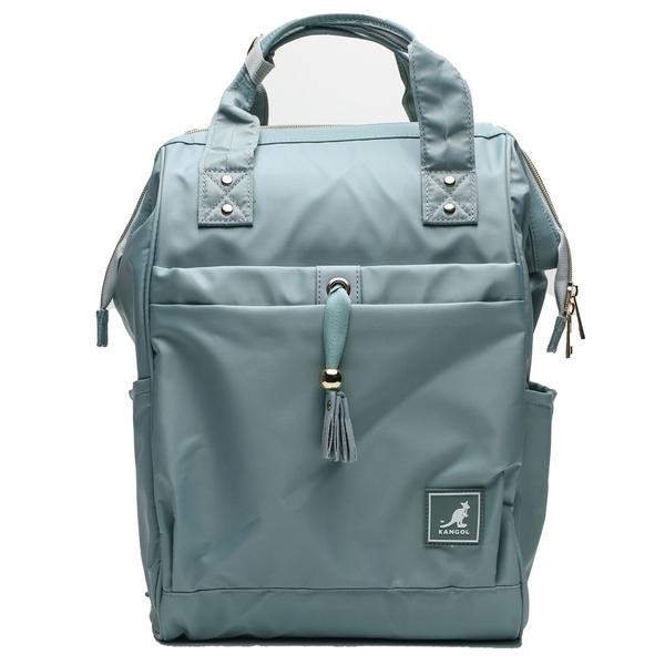 KANGOL 淺藍 後背包 可放水瓶 多夾層 後背包 素色 (布魯克林) 6955320681