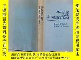 二手書博民逛書店SIGNALS罕見AND LINEAR SYSTEMS信號和線性