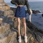 高腰chic寬鬆牛仔短裙女夏ins超火韓版顯瘦a字半身裙褲子2019新款