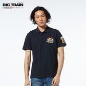 BIG TRAIN 軍事潮流POLO衫-男-深藍/麻灰