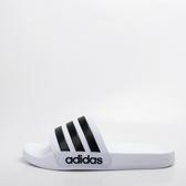 ADIDAS  CF Adilette 運動拖鞋-白/黑 大尺碼 AQ1702