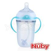 Nuby Comfort 寬口徑防脹氣矽膠奶瓶 250ml (360度滾珠吸管)