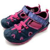 《7+1童鞋》MERRELL MLK160858   戶外  多功能  防水止滑  護趾涼鞋  D187  桃色