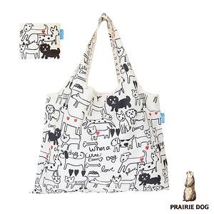 日本 Prairie Dog 設計包/環保袋/購物袋 - 黑白狗狗